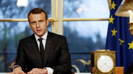 Emmanuel Macron au palais de l'Elysée (illustration)