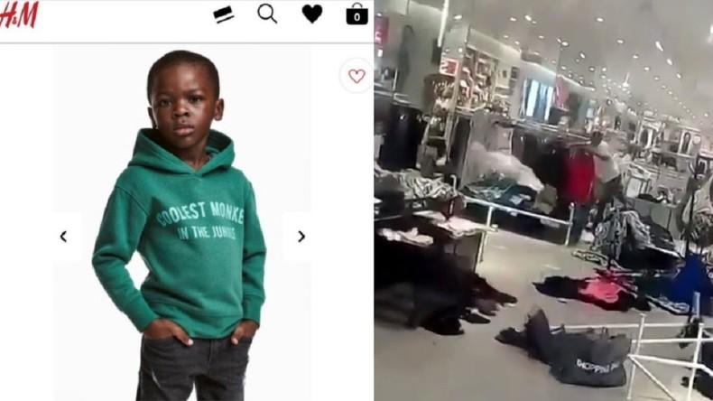 saccag s pour une pub jug e raciste plusieurs magasins h m ferm s en afrique du sud video. Black Bedroom Furniture Sets. Home Design Ideas