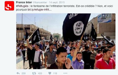 «Fake news»? : une journaliste rappelle que France Inter niait le lien entre réfugiés et terroristes