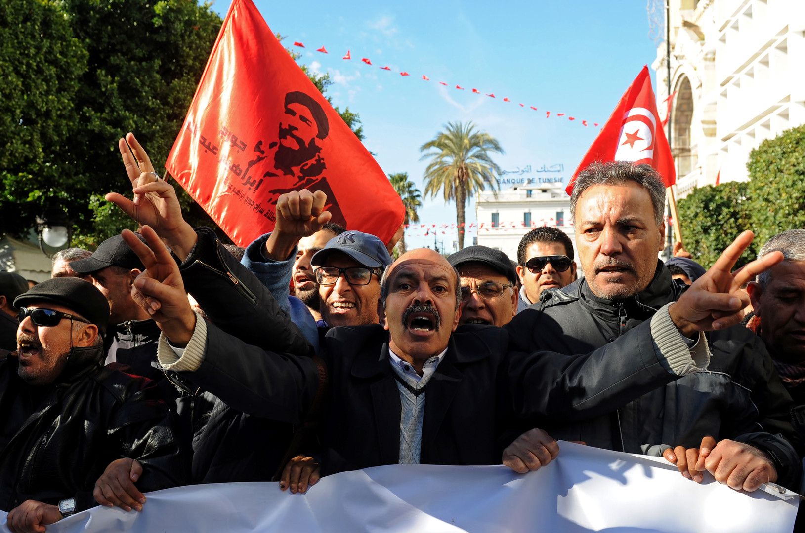 Le septième anniversaire de la révolution tunisienne marqué par des heurts (VIDEO, PHOTOS)
