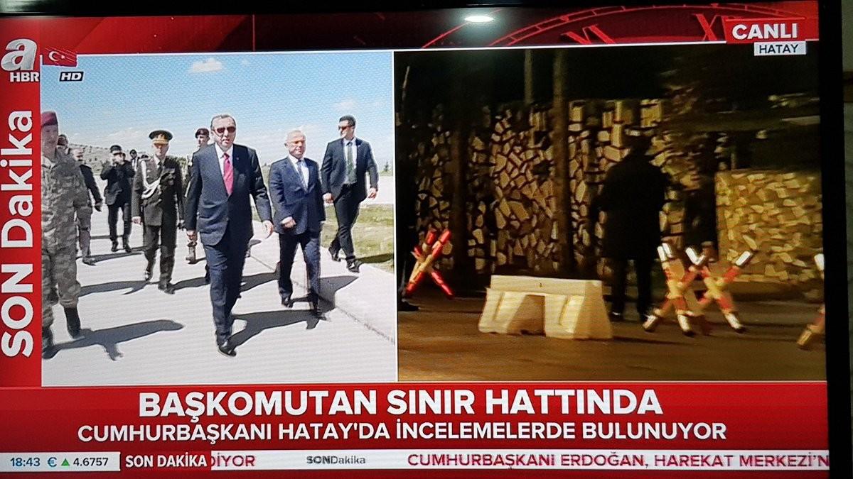 Alors que la bataille fait rage à Afrin, Erdogan visite un poste de commandement turc à la frontière