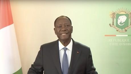 Alassane Outtara présente ses vœux à la télévision ivoirienne, capture d'écran YouTube/RTI, DR