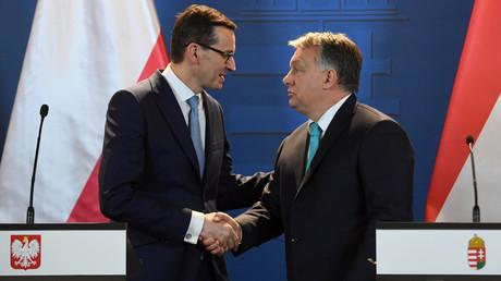 Le Premier ministre hongrois Viktor Orban et son homologue polonais Mateusz Morawieck