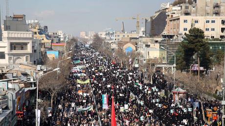 Manifestation pro-gouvernementale à Téhéran, le 4 janvier