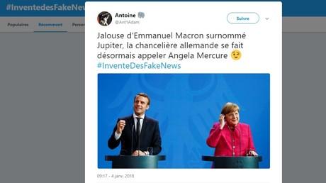 #InventeDesFakeNews : les internautes trollent l'initiative de Macron contre les fausses nouvelles
