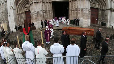 Les funérailles du père Hamel, le 2 août 2016 à la cathédrale de Rouen