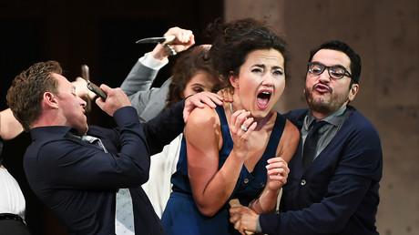 Stephanie d'Oustrac joue Carmen dans l'opéra éponyme, le 27 juin 2017 à Aix-en-Provence (image d'illustration)