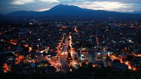 Pristina, capitale du Kosovo (image d'(illustration)
