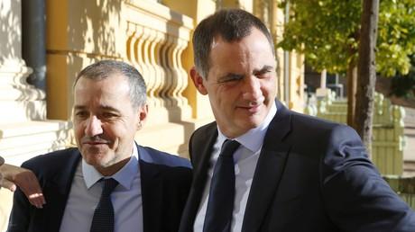 Le président de l'assemblée corse Jean-Guy Talamoni et le président du conseil exécutif Gilles Simeoni