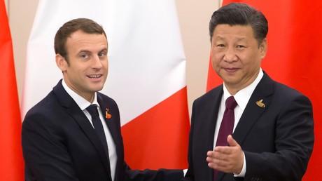 Les présidents Macron et Xi Jinping au G20 à Hambourg, le 8 juillet 2017