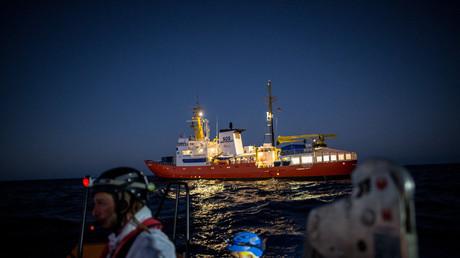 L'Aquarius, navire affrété par SOS Méditerranée et Médecins sans frontières en Méditerranée pour secourir les migrants