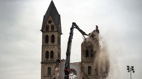 L'église Saint Lambert d'Immerath détruite le 9 janvier 2017.