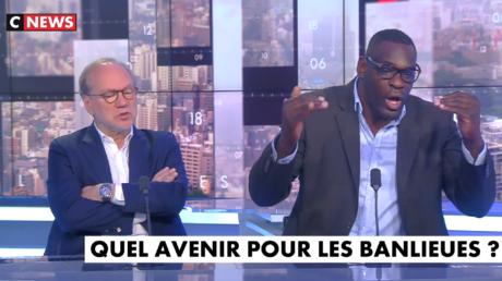 Laurent Joffrin et Patrice Quarteron sur le plateau de «L'heure des pros» sur CNews