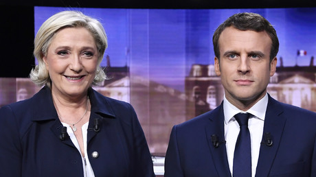 Les deux candidats lors du débat entre-deux tours, le 3 mai 2017