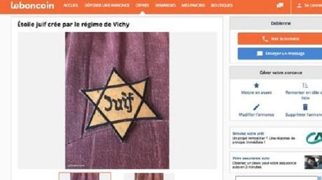 Etoiles jaunes, brassards et képis nazis vendus sur LeBonCoin : le PDG s'excuse