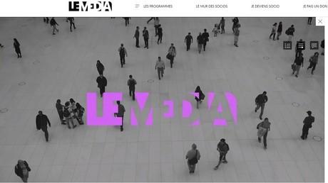 Le Média lance son premier JT sur internet le 15 janvier à 20h