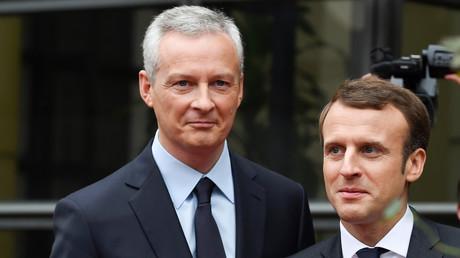 Le ministre de l'Economie et des Finances, Bruno le Maire aux côtés du président de la République Emmanuel Macron. Image d'illustration.