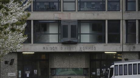 Image d'archive de l'entrée de la prison de Fleury-Mérogis