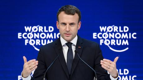 Emmanuel Macron au forum économique de Davos