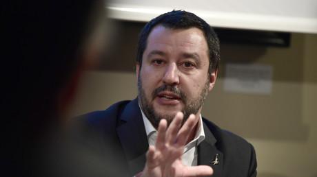 Le secrétaire fédéral de la Ligue du Nord, Matteo Salvini