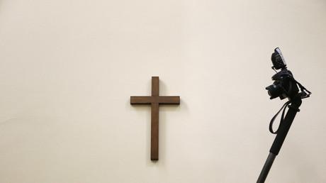 Une croix dans une salle de tribunal à Munich (image d'illustration)