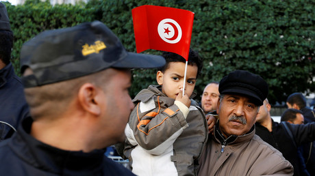 Manifestants tunisiens