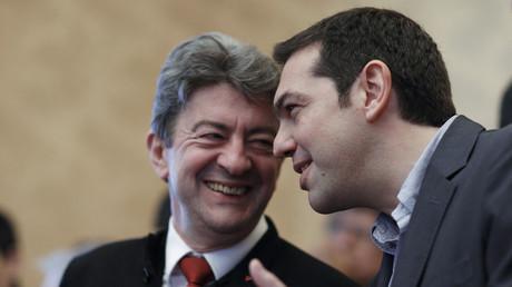 Alexis Tsipras et Jean-Luc Mélenchon en 2012