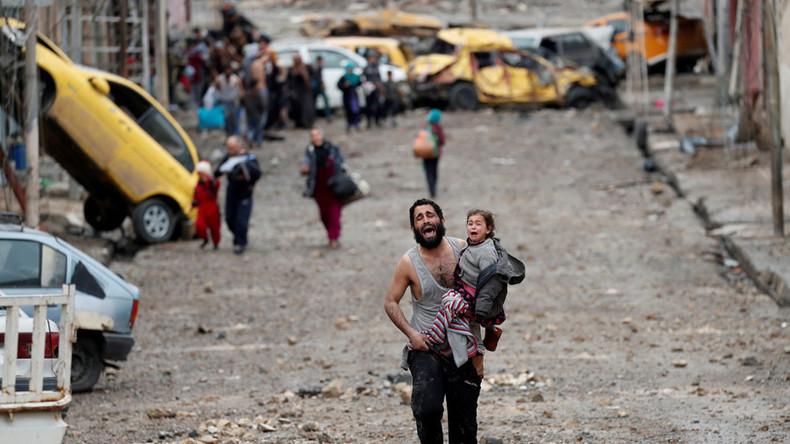 Pour sensibiliser au sort de la Ghouta, il publie des photographies… prises à Gaza et Mossoul