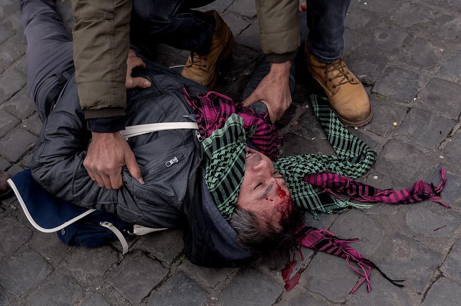 Erdogan au Vatican : violents affrontements entre des manifestants et la police (PHOTOS, VIDEO)