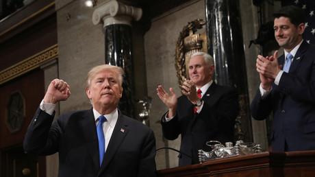 Donald Trump lors de son discours sur l'état de l'Union, le 30 janvier