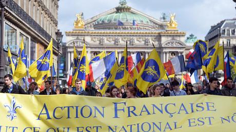 Des militants de l'Action française lors d'un hommage à Jeanne d'Arc en 2013