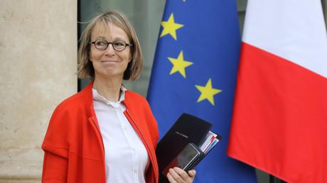 Françoise Nyssen au sortir de l'Elysée en janvier 2018