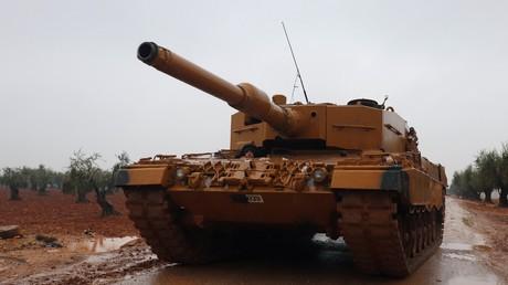 Un char turc dans la région d'Afrin en Syrie, le 23 janvier 2018