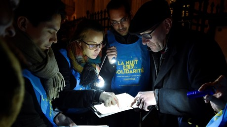 La Nuit de la Solidarité était organisée pour le première fois à Paris