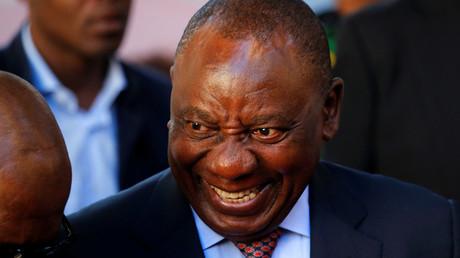 La président sud-africain Cyril Ramaphosa