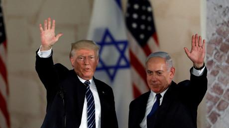 Donald Trump et Benjamin Netanyahou, le 23 mai 2017 à Jérusalem
