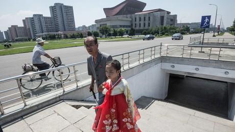 Des habitants de Pyongyang, la capitale de la Corée du Nord