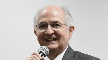 Antonio Ledezma lors d'une conférence de presse le 20 novembre 2017 à Madrid