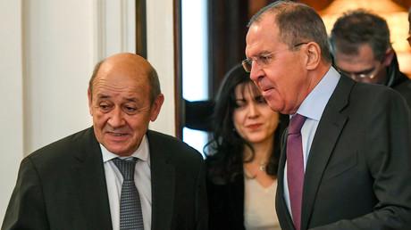 «Eviter que le conflit en Syrie ne s'internationalise» : Le Drian s'entretient avec Lavrov à Moscou