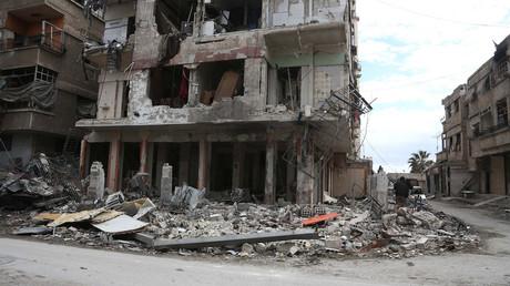 Un quartier de la Ghouta orientale le 27 février 2018, photo ©ABDULMONAM EASSA / AFP