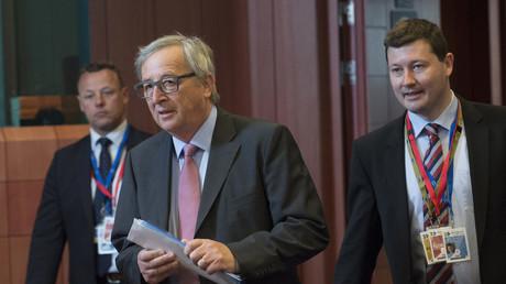 Jean-Claude Juncker et son chef de cabinet Martin Selmayr en 2015 à Bruxelles.