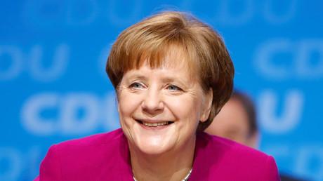 Angela Merkel à un congrès de la CDU à Berlin, 26 février 2018, illustration
