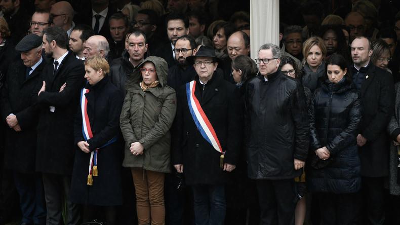 Des internautes ulcérés par les sourires d'Autain et Castaner durant l'hommage à Arnaud Beltrame
