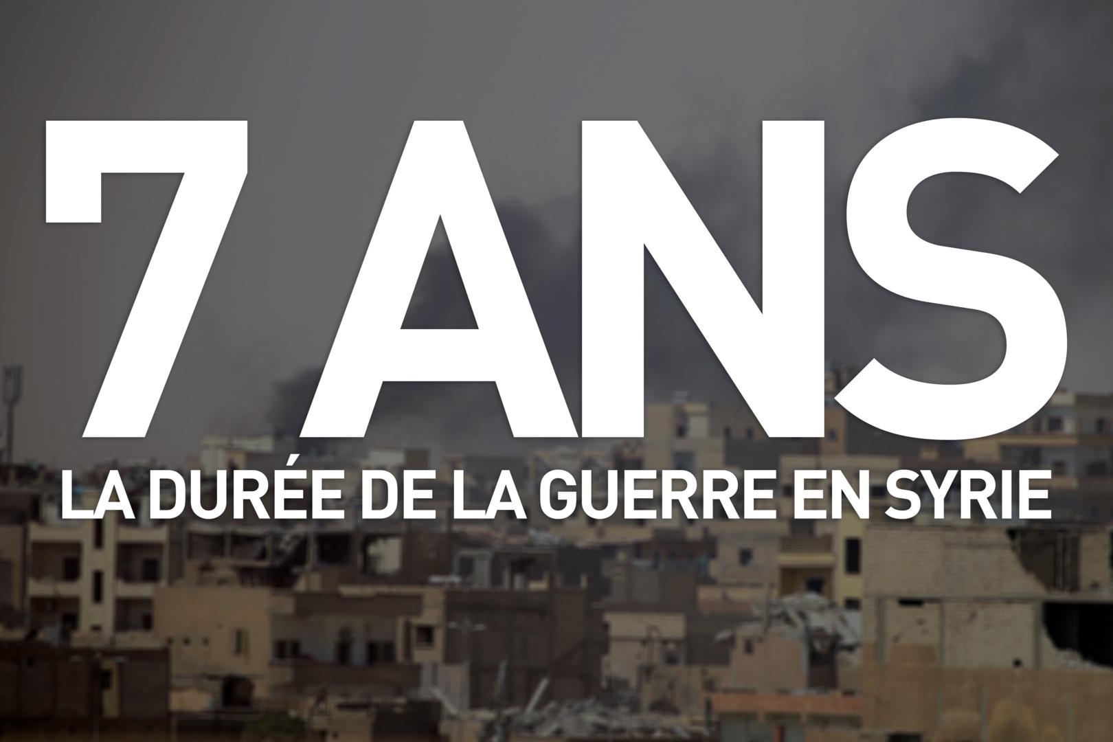 Sept ans de guerre en Syrie, sept chiffres clés