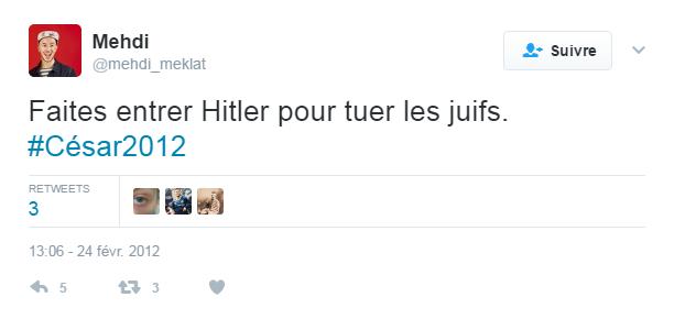 Antisémitisme, racisme anti-blanc : Mehdi Meklat va s'expliquer sur ses tweets haineux dans un livre