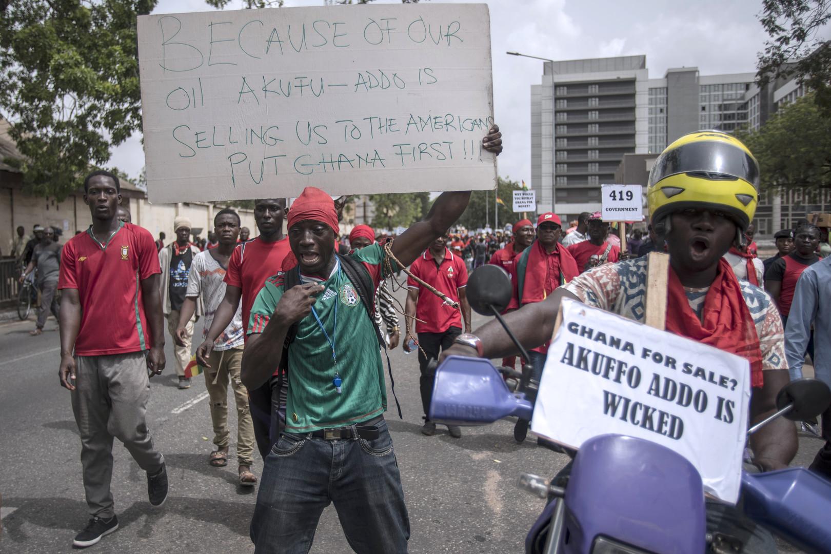 Des centaines de Ghanéens manifestent contre un accord de défense avec les Etats-Unis (PHOTOS)