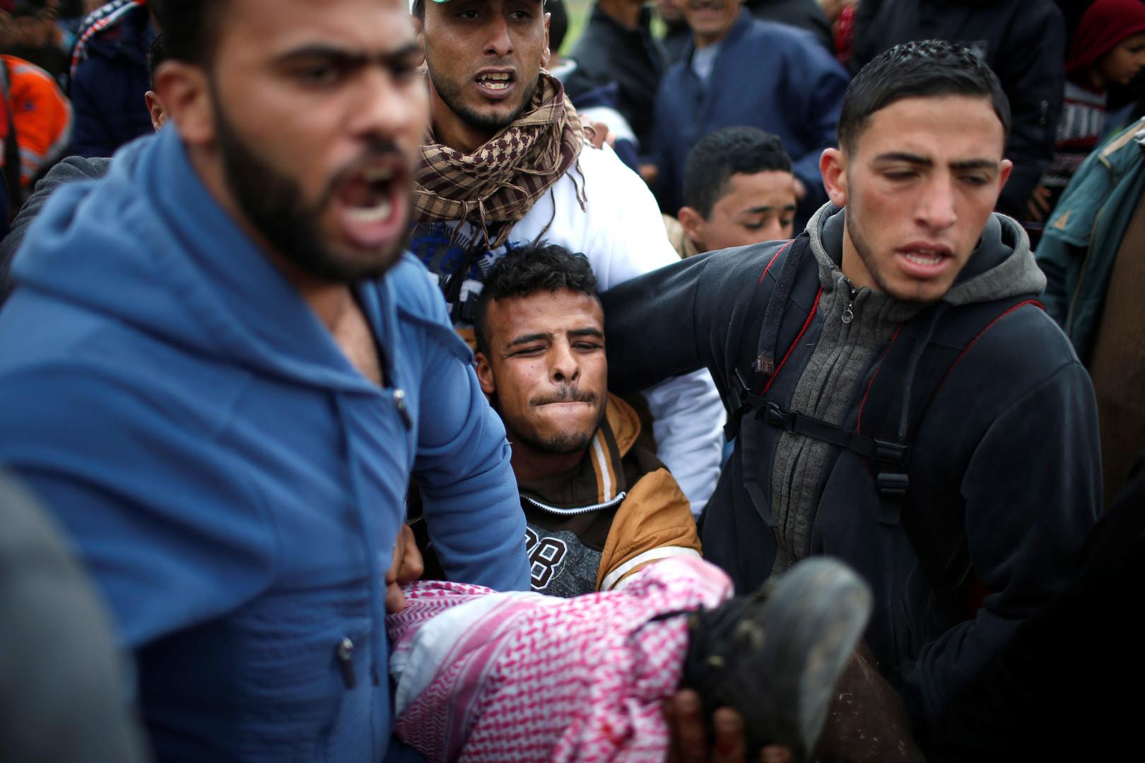 «Grande marche du retour» : 7 morts et des centaines de blessés palestiniens (PHOTOS)