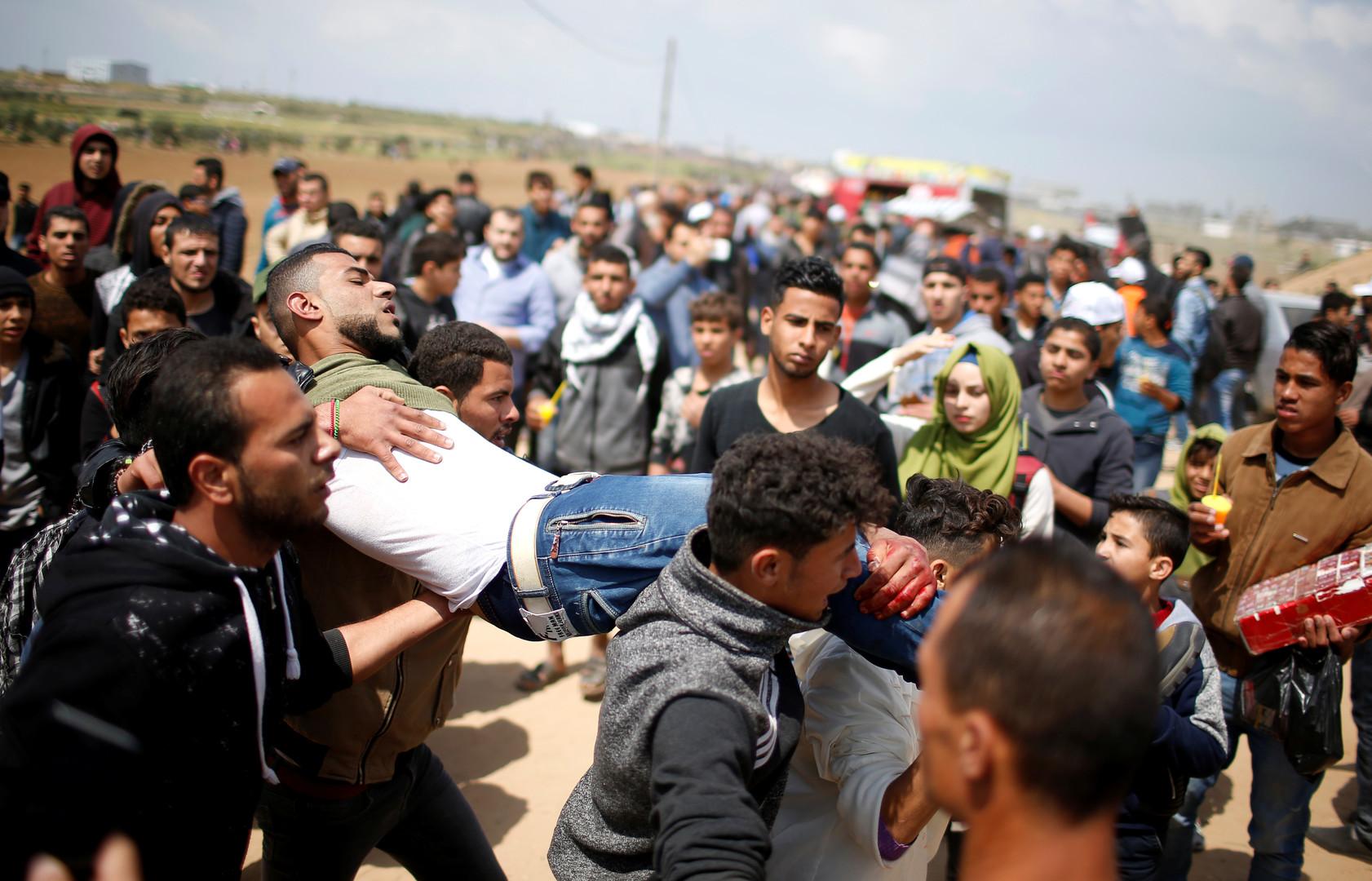 «Grande marche du retour» : 16 morts et au moins 1 400 blessés palestiniens (PHOTOS)