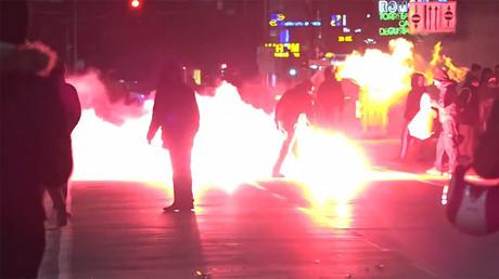 Italie : clash entre antifas et policiers, en marge d'un rassemblement néofasciste (VIDEO)