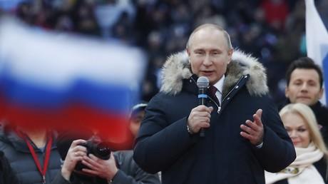 Vladimir Poutine en meeting devant 100 000 partisans : «Nous voulons que notre pays brille» (VIDEO)